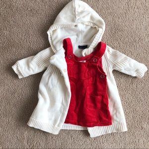 Baby Girl Set of Dress and Cotton Fleece Coat